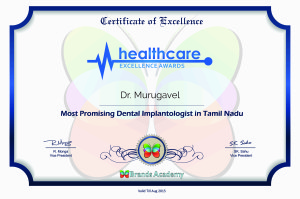 Dr. Murugavel, Health care – Excellence Awards from Brands Academy